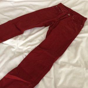 Red Men's Levi's Jeans